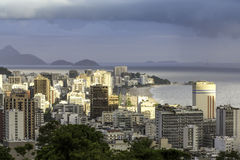View of Ipanema Beach from Alto Lebon Stock Images