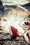 View of Ipanema Beach in the evening, Brazil Royalty Free Stock Photography