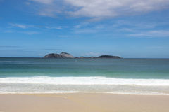 View of Ipanema Beach in Rio de Janeiro Royalty Free Stock Photos