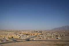 View of Iranian desert city of Yazd Royalty Free Stock Photos