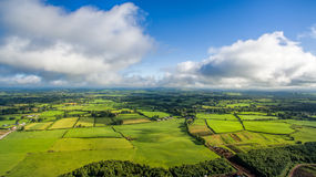View of Irish rural scene on sunny summer day in Tipperary fields. Ireland Royalty Free Stock Images