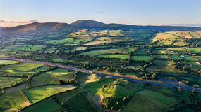 View of Irish rural scene on sunny summer day in Tipperary fields. Ireland Stock Photography