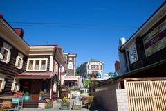 View of the Irkutsk Sloboda 130 Quarter located in Irkutsk, Russia. Royalty Free Stock Image