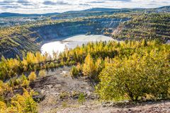 View of the iron ore mine Royalty Free Stock Photos