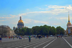 View of Isaakievskiy Cathedral and Admiralty Stock Photos