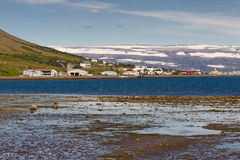 View on Isafjordur town. View on Isafjordur twon in north part of Iceland Stock Photos