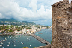 View of Ischia Ponte from Aragonese Castle. Italy Royalty Free Stock Image