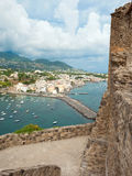 View of Ischia Ponte from Aragonese Castle. Italy Royalty Free Stock Photo