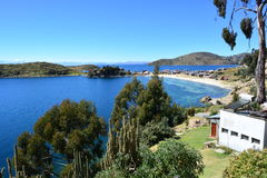 View from the Isla del Sol island, in Titicaca Lake, Bolivia Stock Photography