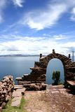 View from isla del sol Lake Titicaca Stock Image