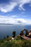 View from isla del sol Lake Titicaca Royalty Free Stock Image