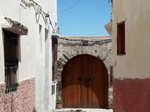 View 6. Islamic  Architecture in the medina of tangier Stock Photography