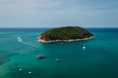 View of island in andaman sea Royalty Free Stock Photo