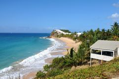 View of the island Antigua. Beach Royalty Free Stock Photos