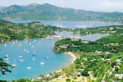 View of the island Antigua. English Harbor Stock Images