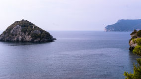 View of the island of Bergeggi Italy royalty free stock image