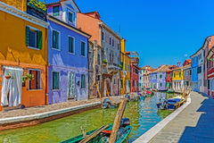 View of island Burano, Italy Royalty Free Stock Images