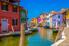 View of island Burano, Italy Stock Images