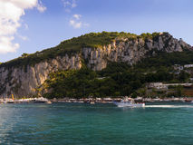 View of the Island of Capri Royalty Free Stock Photography