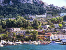 View of the Island of Capri Royalty Free Stock Images