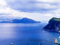 View from the Island of Capri Stock Image