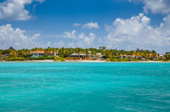 View of the island  in the Caribbean Sea. View of the island of Antigua in the Caribbean Sea Stock Photography