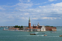 View of the island and the Cathedral of San Giorgio Maggiore, Venice, Italy Royalty Free Stock Image