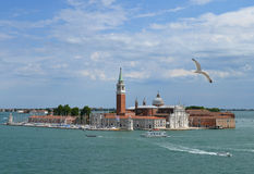 View of the island and the Cathedral of San Giorgio Maggiore, Venice, Italy Stock Image