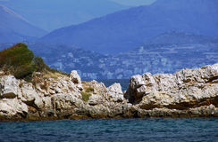 View from the island of Corfu to Albania Stock Photography