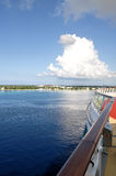 View of island from cruise ship Royalty Free Stock Images