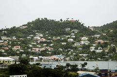 View of the island Grenada, St. George's, Caribbean Royalty Free Stock Images