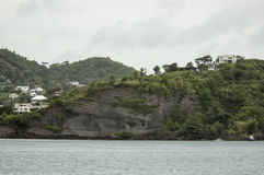 View of the island Grenada, St. George's, Caribbean Stock Photos