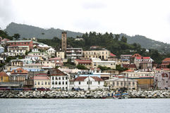 View of the island Grenada, St. George's, Caribbean Royalty Free Stock Image