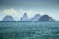 View of island group in Thailand. Phang nga stock images
