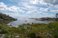 View from the island, Häradsskär. Beautiful archipelago,a summer day in Sweden Stock Photography