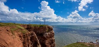 View of the Island of Heligoland.  stock photo