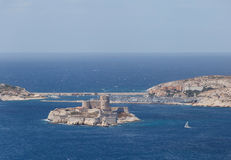 View on island If in Marseille Bay Stock Images