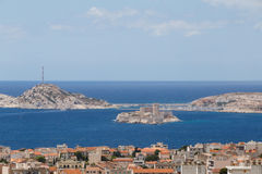 View on island If from Marseille Stock Photos