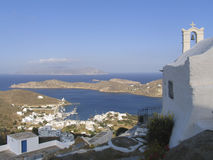 View of the island of Ios in Cyclades, Stock Photography