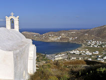 View of the island of Ios in Cyclades, Stock Image