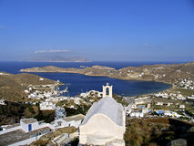 View of the island of Ios in Cyclades,. Greece stock photography