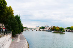 View of island Isle de la Cite. Paris Royalty Free Stock Photos