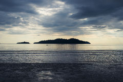 View from the island koh chang, thailand in the evening Royalty Free Stock Photos