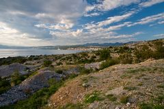 View from the island of Krk Stock Photo
