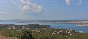 View of the island of Krk Royalty Free Stock Photos