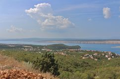 View of the island of Krk Royalty Free Stock Images