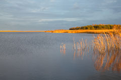 View from island located near to the city of Gdansk, Poland Stock Images