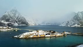 View of the island, Lofoten Islands, Norway stock footage