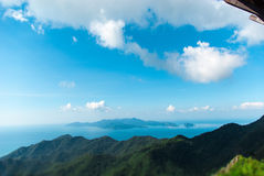 View of the island from Mat Cincang mountain Stock Photography