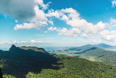 View of the island from Mat Cincang mountain Royalty Free Stock Image